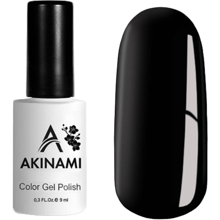 Гель-лак Akinami Color Gel Polish- тон №02 Black